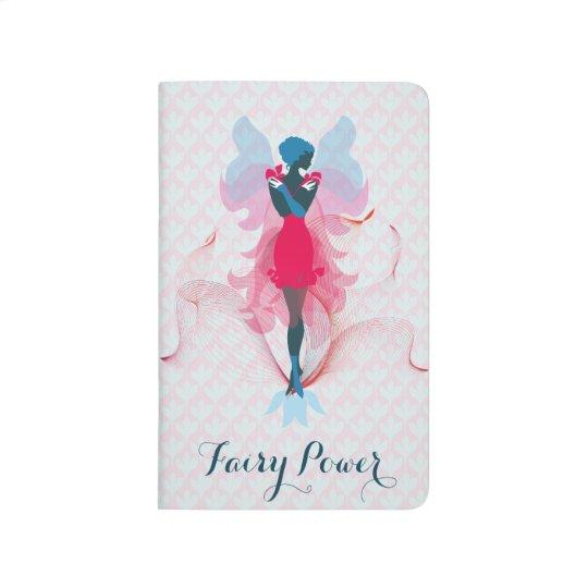 Stylish Fairy feminine silhouette illustration Journal