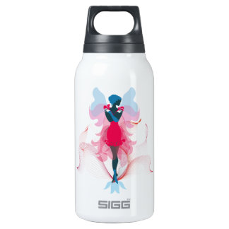 Stylish Fairy girly silhouette illustration Insulated Water Bottle