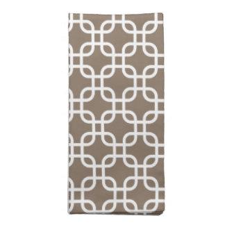 Stylish Fall Taupe Geometric Pattern Napkins