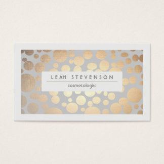 Stylish Faux Gold Foil Cosmetologist Salon and Spa Business Card