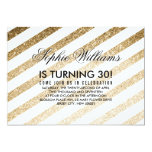 Stylish Faux Gold Glitter Birthday Invitation