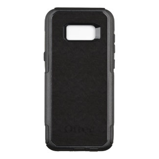 Stylish Fine Textured Black Leather OtterBox Commuter Samsung Galaxy S8+ Case