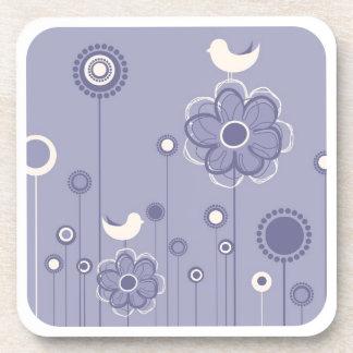 Stylish Floral Decor Cork Coaster