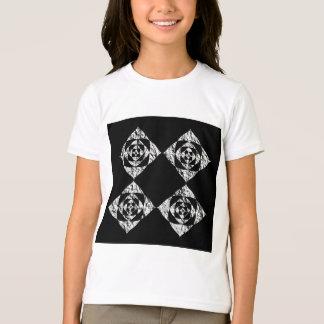Stylish Floral Design. Gray, Black, White. T-Shirt
