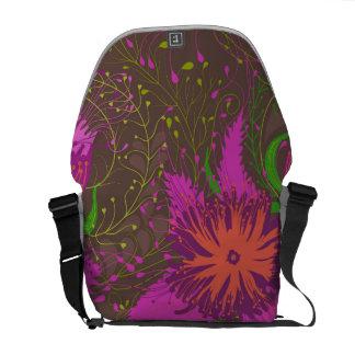 Stylish floral design messenger bags