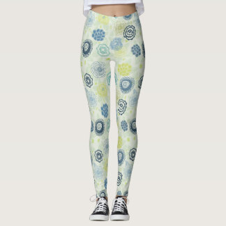 Stylish floral pattern with cute flowers leggings