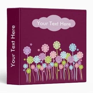Stylish flowers & butterflies binder
