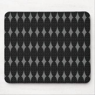 Stylish-French-Diamonds-Black-Gray-Unisex Mouse Pad