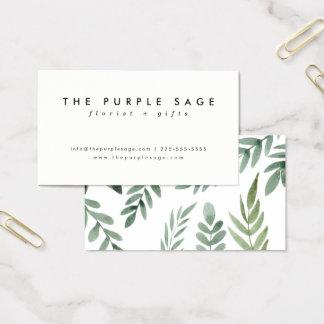 Stylish Fresh Botanical Business Cards