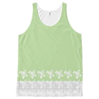 Stylish-Fresh-Mint--White-Lace-Tank-Top