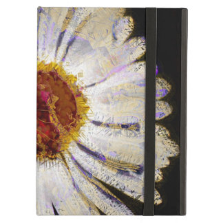 Stylish Funky Abstract Daisy White Flower Art Cover For iPad Air
