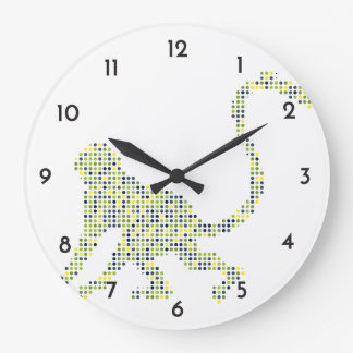Stylish Funky Monkey Large Clock
