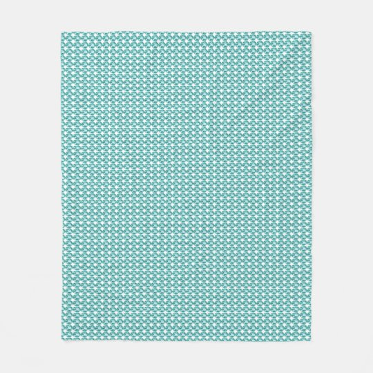 Stylish Gems-Blue-Gems_Designer-Fabric_Med Fleece Blanket