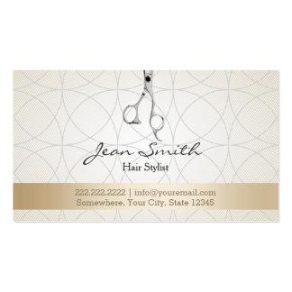 Stylish Geo Circles Hair Stylist Business Cards