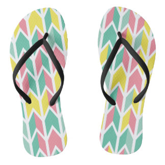 Stylish Geometric Geometric Pastel Color Flip Flop