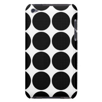 Stylish Gifts for Girls Black Polka Dots on White Case-Mate iPod Touch Case