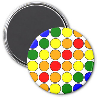 Stylish Gifts for Girls : Rainbow Polka Dots Magnet