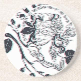stylish girl cute design coaster