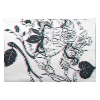 stylish girl cute design placemat