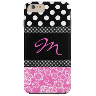Stylish Girly Monogram iPhone 6 Plus Case