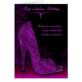 Stylish Glamour Shoe Birthday Greeting Card