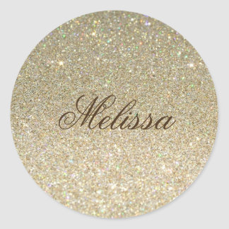 Stylish Glitter Custom Sticker