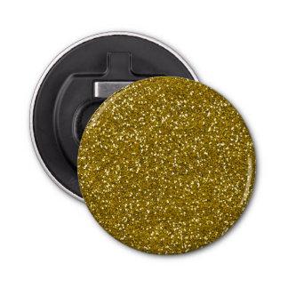 Stylish Glitter Gold Button Bottle Opener