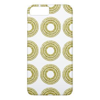 Stylish Glitter Gold Polka Dots iPhone 7 Plus Case
