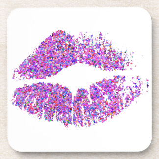 Stylish Glitter Lips #11 Coaster