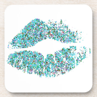 Stylish Glitter Lips #15 Coaster