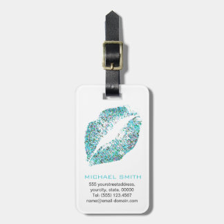Stylish Glitter Lips #30 Luggage Tag