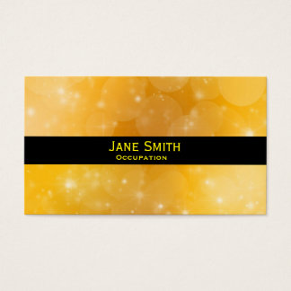 Stylish gold and black modern trendy business card