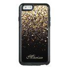 Stylish Gold Black Glitter OtterBox iPhone 6 Case