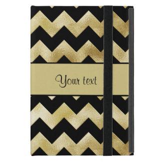 Stylish Gold & Black ZigZags iPad Mini Case