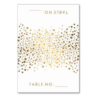 Stylish Gold Confetti Dots | Tent Cards