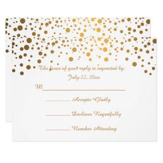 Stylish Gold Confetti Dots | White Card