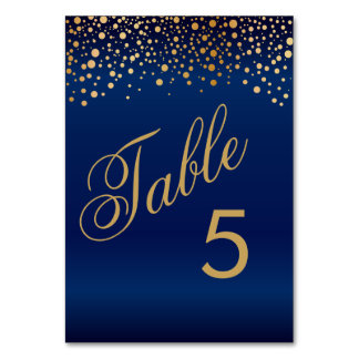 Stylish Gold Dots and Navy Blue Card