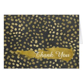 Stylish Gold Dots Thank You Card