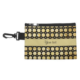 Stylish Gold Faux Buttons Accessory Bags