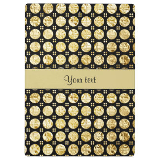 Stylish Gold Faux Buttons Clipboards