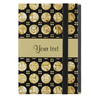 Stylish Gold Faux Buttons iPad Mini Cover