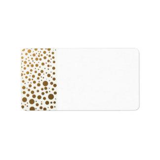 Stylish Gold Foil Confetti Dots