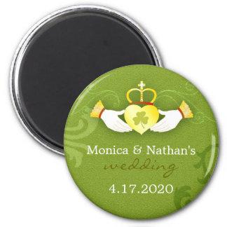 Stylish Gold n Green Irish Wedding Invitation Magnet