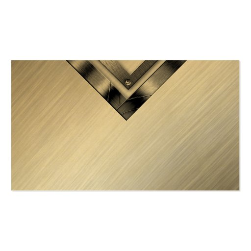 Stylish Gold Professional Metal Business Cards