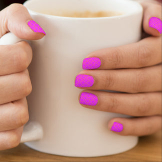 Stylish Gold Quilted Bright Neon Pink Minx ® Nail Wraps