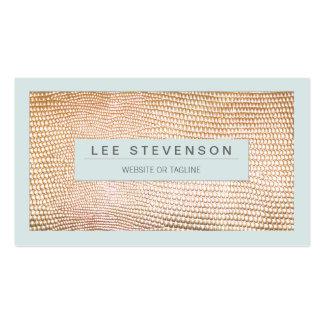 Stylish Gold Snakeskin Beauty and Fashion Business Cards