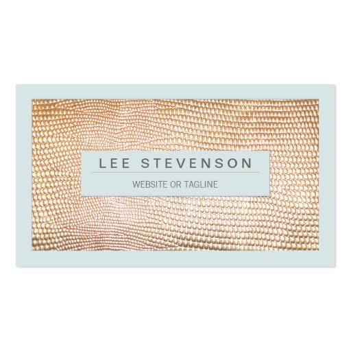 Stylish Gold Snakeskin Beauty and Fashion Business Cards