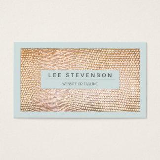 Stylish Gold Snakeskin Beauty and Fashion Business Card