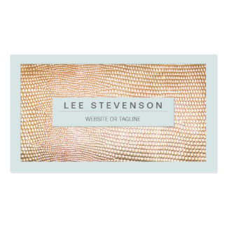 Stylish Gold Snakeskin Beauty and Fashion Pack Of Standard Business Cards