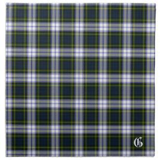 Stylish Gordon Dress Monogram Tartan Plaid Napkin